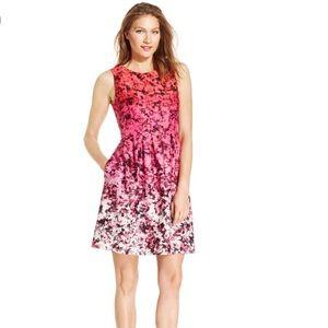 Vince Camuto Pink Floral Ombré Scuba Dress